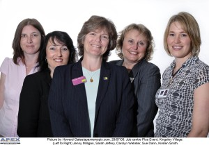 Jenny Millagan, Sarah Jeffrey, Carolyn Webster, Sue Dann and Kirsten Smith.